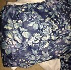 Laura Ashley Blue Floral & Berries Full Size Bed Skirt
