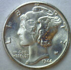 1944 D Silver Mercury Dime Winged Head Unc US Ten Cent Coin from Roll #R