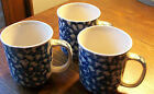TIENSHAN FOLK CRAFT HEARTS BLUE SPONGE CUPS THREE