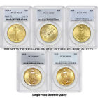 Lot of 5 $20 Saint Gaudens PCGS MS65 Gem Gold Double Eagle coins Random Year