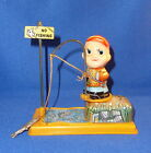 Vintage YONE/JAPAN 1960's Wind-Up FISHING BOY No. 2014 - WORKS