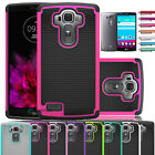 Slim Heavy Duty Hybrid Rugged Rubber Protector Hard Case Cover For LG G4 2015