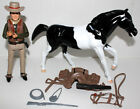 BONANZA LITTLE JOE WITH CUSTOM PAINTED HORSE FIGURES & COMPLETE ACCESSORIES