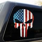 Punisher Skull American Flag Military Decal Sticker Graphic - 5 Sizes