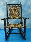 Antique Child Hitchcock Style Wood Rocking Chair Kid Rocker Tapestry Stick