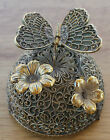 Vintage Westland Gold Ormolu Butterfly & Flower Music Box