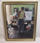PAINTING BY LISTED ARTIST TOM GILL 1993  STUDIO PORTRAIT