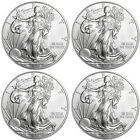 Lot of 4 Coins 2015 1 oz American Silver Eagle GEM BU Coins 999 Fine Silver