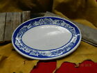 Vintage Blue Tepco China USA Early California Wells Fargo Western Platter Plate