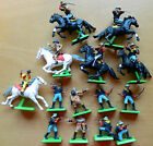 14 Original Britains Deetail 54mm plastic Cavalry toy soldiers on metal bases