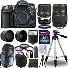 Nikon D7100 Digital SLR Camera + 4 Lens Kit 18 55mm + 70 300mm + 32GB Bundle