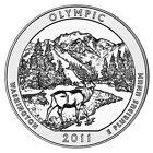 2011 America the Beautiful 5oz Silver Coin Olympic National Park