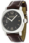 Panerai Radiomir 1940 Black Dial Black Leather Men Brown Leather Watch PAM00514