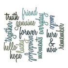 Sizzix Thinlits Die Set 660225 Friendship Words Script by Tim Holtz