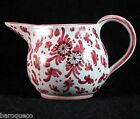 Ars Deruta Italy/Italian Creamer Hand painted Red Floral/Flowers Vintage Pottery