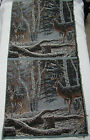 Buck Deer confrontation rustic cabin hunting Tapestry Fabric Pillow top 2 Panels