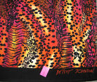 Betsey Johnson Animal print LEOPARD tiger cotton Beach Towel Extra Large 35x 66