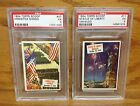 Lot of 2 1954 Topps Scoop PSA 5 Armistice Signed and Statue of Liberty 11 47