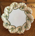 LOVELY ANTIQUE VIENNA AUSTRIA HAND PAINTED SCALLOPED EDGE PLATE  P. H. LEONARD