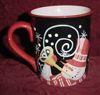 CERTIFIED INTERNATIONAL STEPHANIE STOUFFER COFFEE MUG / CUP  SNOWMAN EC