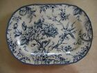 222 Fifth Blue & White Adelaide Toile Serving Platter / Plate  NEW  Bird