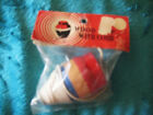 NIP Antique Vintage Wood Spinning Top 1950's Classic Wooden Toy w String Japan
