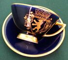 Kronach Bavaria Porcelain, Cobalt Blue 22k Gold Demitasse Cup And Sauser, Berlin