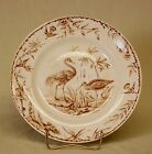 Antique 1877 Ridgways Aesthetic Brown Transfer Indus Plate Dish
