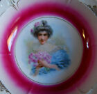 VICTORIAN BOWL PORCELAIN, LADY HOLDING FLOWERS GERMAN or Bavarian? 10
