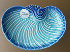 NEW PORTUGAL OLFAIRE NAUTILUS SHELL DISH BLUE AND TURQUOISE