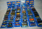 LOT OF 64 HOT WHEELS 1990 -1992 BLUE CARDS GREEN PASSION 32 FORD DELIVERY NEW