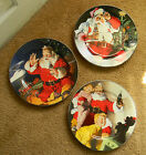 Coca Cola Brand Stoneware Marketed by Sakura Christmas Plate Collection 3 in all