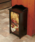 WOODEN GARBAGE TRASH BIN APPLE BASKET Country Theme Design Kitchen Bar Farm New