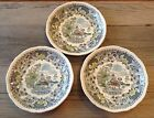 ANTIQUE/VTG Seaforth Woods Burslem BROWN SAUCER SET OF 3  ENOCH 1784 England