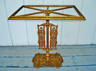 Antique Ornate Cast Iron Brass Patina Art Deco Side Table - Ready for Glass Top