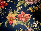 Waverly CARRIAGE HOUSE ROSE Navy Gold Red Floral Shabby Chic Fabric 52
