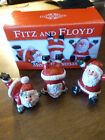 Fitz & Floyd Merry Christmas Santa Tumblers - set of 3 - 2006 - Original Box
