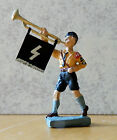 Elastolin Lineol resin cast reproduction WWII Fanfare boy trumpeter toy soldier