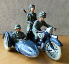 Elastolin Lineol 7cm resin cast reproduction motorcycle & sidecar, toy soldiers