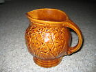 Collectible Brown Glazed Pitcher Grape & Leaf design