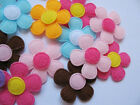 Lot of 90pcs Padded Spring Felt Flower Appliques 9 Colors