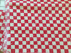 Red checkerboard by Joan Kessler - 2 pcs, 1 yd & 1 1/4 yd - cotton fabric