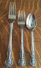 3 NASCO STAINLESS STEEL ROSE PORTRAIT PATTERN 2 SALAD FORKS AND 1 TEA SPOON