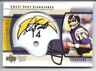 2004 UD SWEET SPOT DAN FOUTS HELMET SIGNATURES AUTO #D GOLD 25 OF ONLY 100