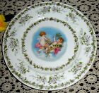 VINTAGE LIMOGES CHIC FRENCH BABY CHERUB CHERUBS ANGELS CHARGER PLATE FRANCE