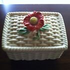 Vintage Finest China Flower Trinket Box ~  Signed Japan RARE
