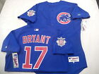 5210-1 Majestic Chicago Cubs KRIS BRYANT Authentic GAME Alternate BLUE Jersey 48