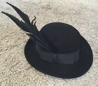 Michael Howard Vintage Womens 100% Wool Hat With Feathers
