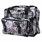 Janome Sewing Machine Tote Bag in Black Floral with Floral Pattern