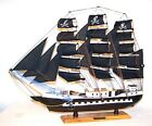 HUGE 24 WOODEN PIRATE SHIP GI379 nautical ocean pirates ships wood boats NEW